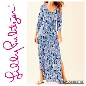 NWT Lilly Pulitzer Anissa Maxi Dress Snap to It M